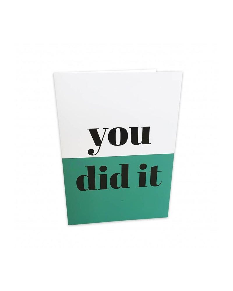 Studio Stationery Greeting card - You did it