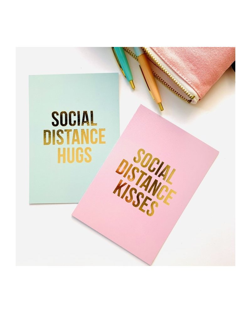 Studio Stationery Card - Social Distance Kisses