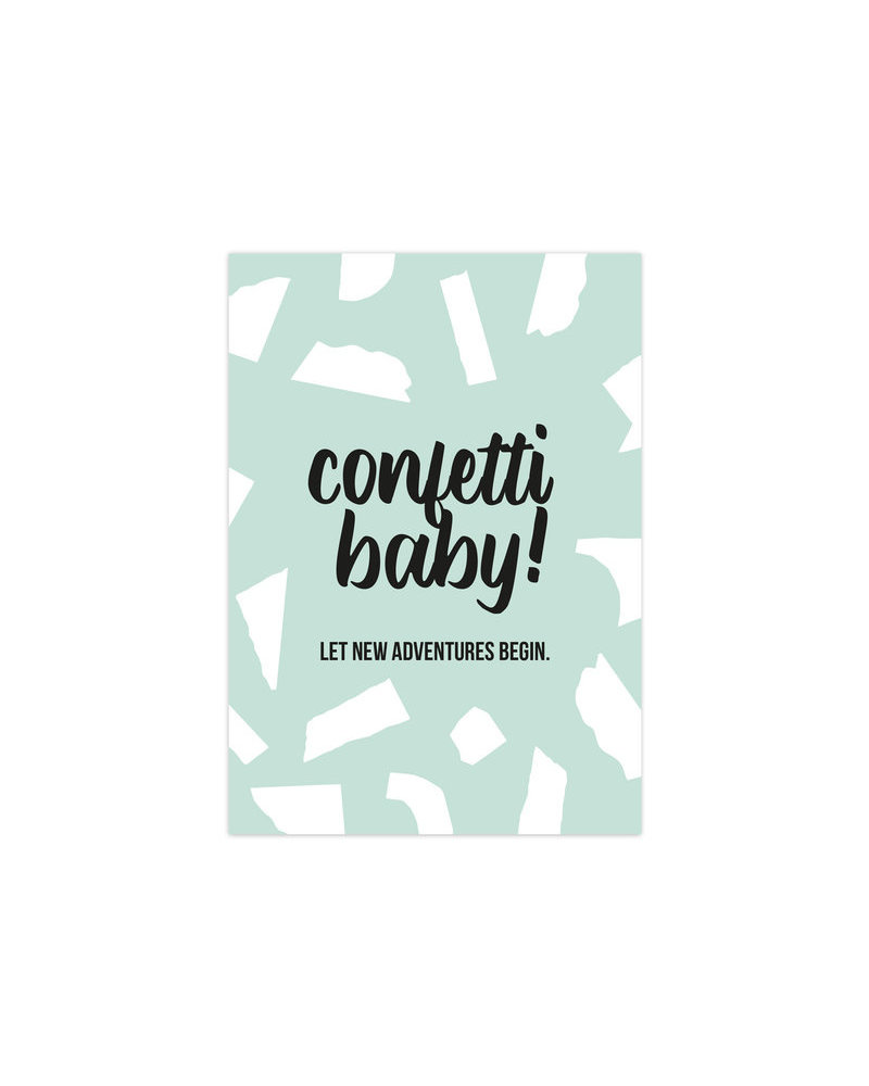 Studio Stationery Card - Confetti Baby