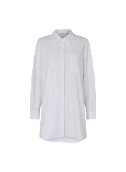 co'couture HANNAH Midi Shirt - white