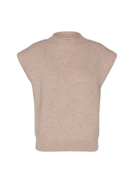 co'couture ROW wing knit vest - bone