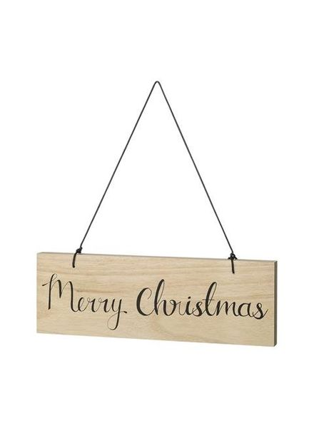 Bloomingville Sign - Natural/Black Text - 'Merry Christmas'