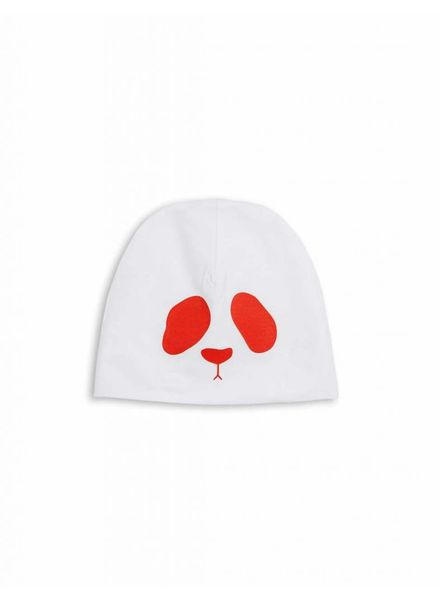 Mini Rodini Panda Reversible Beanie - Red