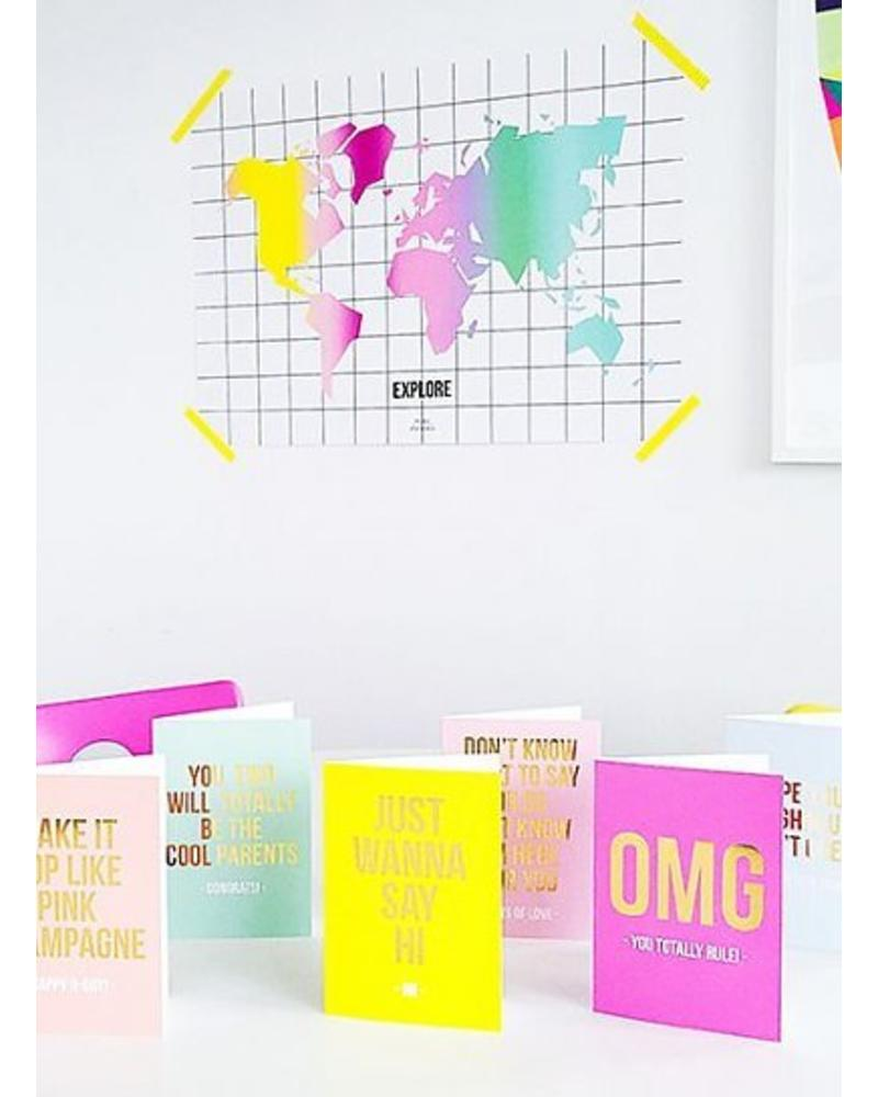 Studio Stationery Greeting card - cool parents
