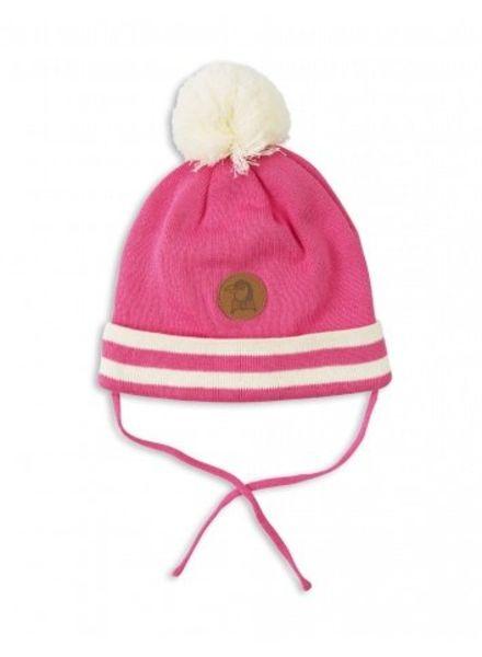 Mini Rodini STRIPE HAT - PINK