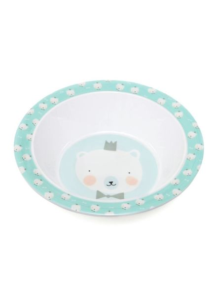 Petit Monkey Melamine bowl polar bear mint