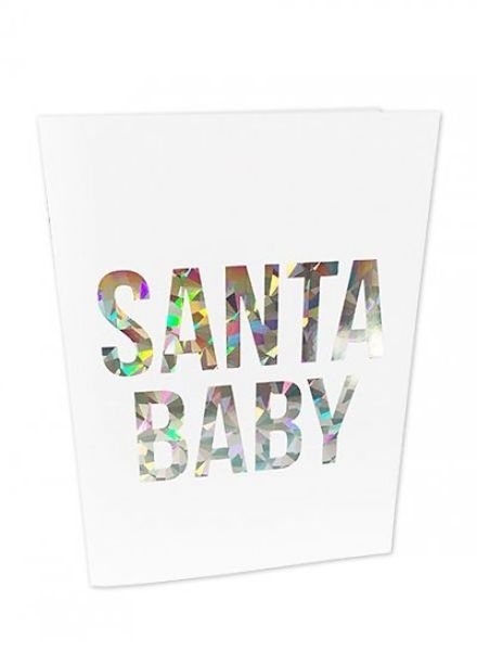 Studio Stationery Greeting card Santa baby