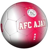 AJAX Amsterdam Bal ajax leer groot rood/wit spikkel