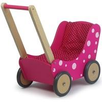 Poppenwagen roze stip Simply for Kids 60x32x55 cm