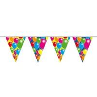 Vlaggenlijn ballonnen: 10 meter