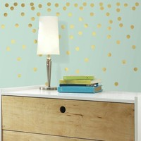 Muursticker RoomMates: Gold Dots