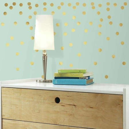 Roommates Muursticker RoomMates: Gold Dots