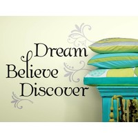 Muursticker RoomMates: Dream Believe Discover