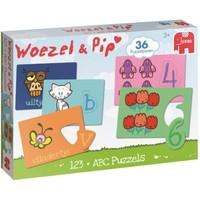 Puzzel Woezel en Pip: ABC en 123