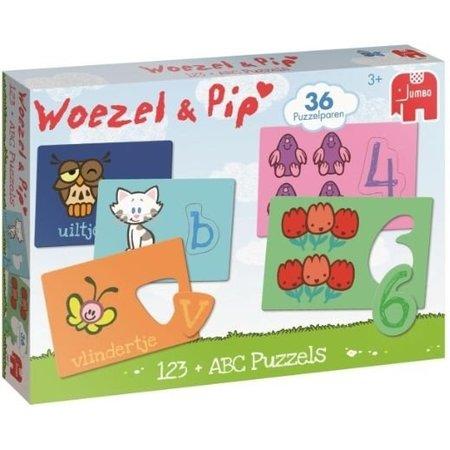 Jumbo Puzzel Woezel en Pip: ABC en 123