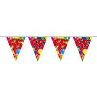 Vlaggenlijn ballonnen: 55 jaar - 10 meter