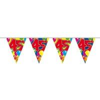 Vlaggenlijn ballonnen: 45 jaar - 10 meter