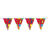 Vlaggenlijn ballonnen: 60 jaar - 10 meter