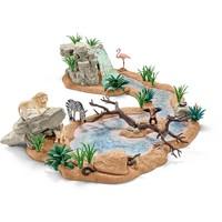 Schleich Groot avontuur wasplaats 42321 - Speelfigurenset - Wild Life - 66,5 x 17,5 x 75 cm