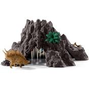 Schleich Reuzenvulkaan met T-rex 42305 - Speelfigurenset - Dinosaurs - 63 x 28 x 58 cm