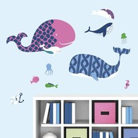 Muursticker RoomMates: Sea Whale