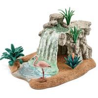 Schleich waterval  42257 - Flamingo Speelfiguur - Wild Life - 17,1 x 29,4 x 23,1 cm
