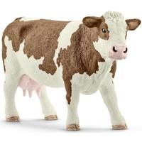 Schleich Gevlekte Koe 13801 - Speelfiguur - Farm World - 13 x 4 x 7,7 cm