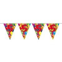 Vlaggenlijn ballonnen: 5 jaar - 10 meter