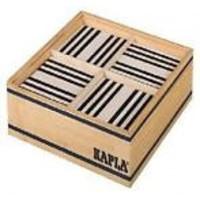 Kapla: 100 stuks in kist zwart/wit