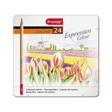 Bruynzeel Kleurpotloden in blik Expression: 24 stuks