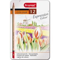 Kleurpotloden in blik Expression: 12 stuks