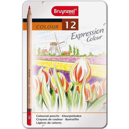 Bruynzeel Kleurpotloden in blik Expression: 12 stuks