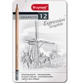 Bruynzeel Grafietpotloden in blik Expression: 12 stuks