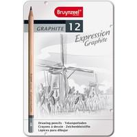 Grafietpotloden in blik Expression: 12 stuks