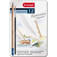 Aquarelpotloden in blik Expression: 12 stuks