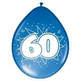 Ballonnen ster 30 cm: 60 jaar - 8 stuks