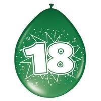 Ballonnen ster 30 cm: 18 jaar - 8 stuks