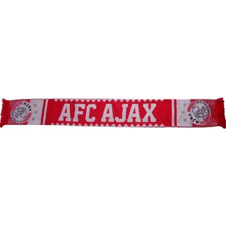 AJAX Amsterdam Sjaal ajax rood/wit kartelrand