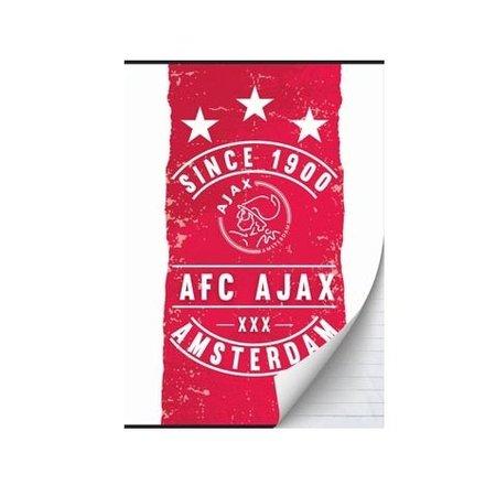 AJAX Amsterdam Schrift ajax rood/wit since 1900 A5 gelijnd: 3-pack
