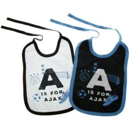 AJAX Amsterdam Slabbetjes ajax 2-pack blauw: A is for Ajax