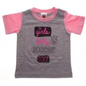 Baby t-shirt ajax roze: girls love soccer