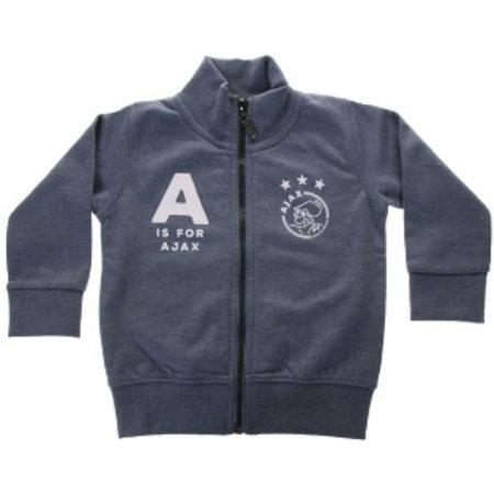 AJAX Amsterdam Baby baseball jacket blauw: A is for Ajax maat 62/68