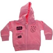 Baby sweatvest ajax roze: girls love soccer