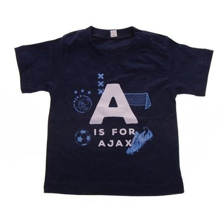 AJAX Amsterdam Baby t-shirt ajax blauw: A is for Ajax maat 74/80