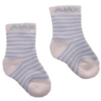 Baby sokjes ajax blauw/strepen