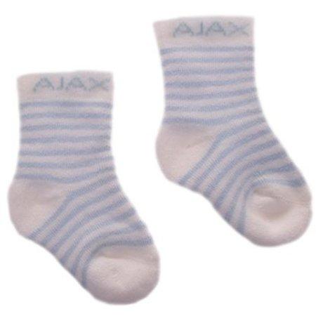 AJAX Amsterdam Baby sokjes ajax blauw/strepen