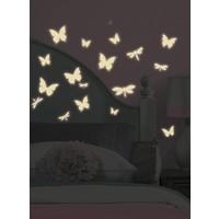 Roommates Muursticker Roommates: Vlinder & Libelle Glow 11,8x6,3 cm