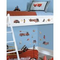 Muursticker Roommates: Fire Brigade 25x45 cm