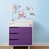 Muursticker Roommates: Prisma-Owls& Butterflies 45x25 cm