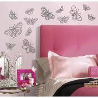 Muursticker Roommates: Glitter Butterflies 45x25 cm